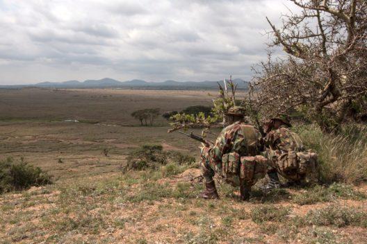 Mitglieder des Anti Poaching Unit des Lewa Wildlife Conservancy in Kenia. (Bild: Zoo Zürich, Martin Bauert)